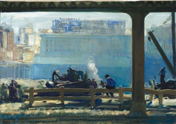 Bellows, George Wesley: Blue Morning. Fine Art Print/Poster. Sizes: A4/A3/A2/A1 (004052)